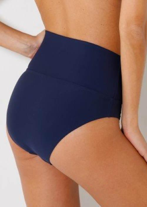 Tmavě modré vysoké dámské plavky