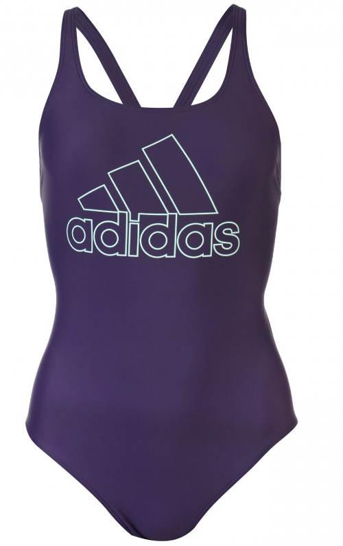 Fialové dámské jednodílné XXL plavky Adidas