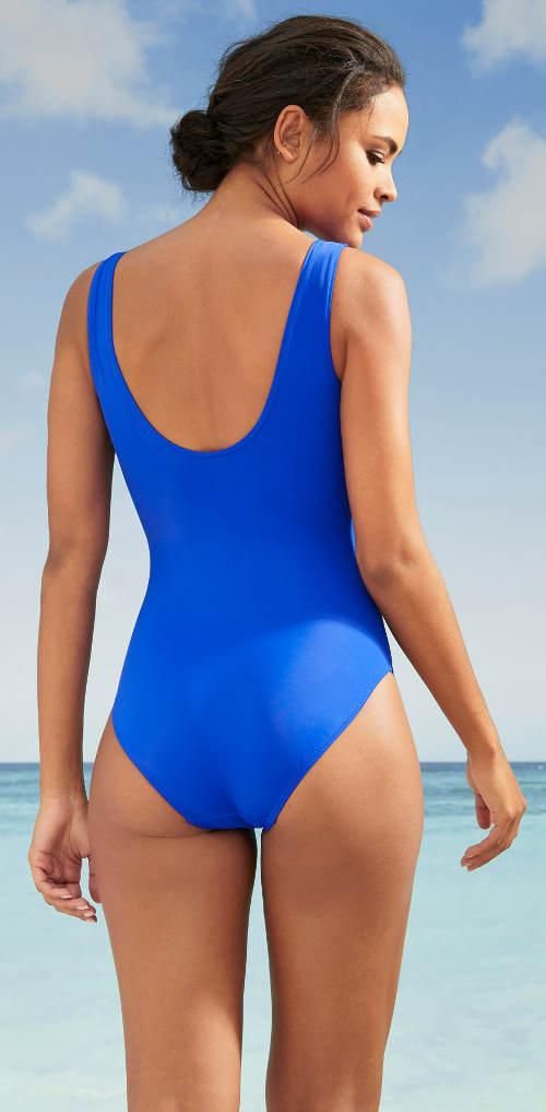 Modré sportovní dámské plavky Bonprix