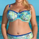 Nevyztužené dvoudílné plavky pro silnější ženy s plnějším poprsím