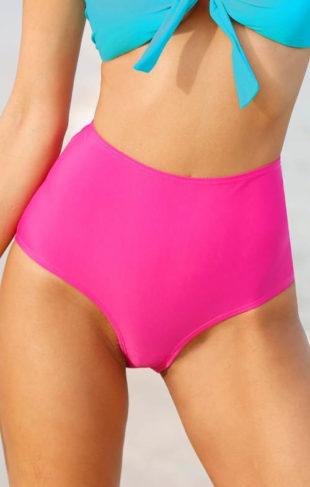 Vysoké stahovací plavkové kalhotky zeštíhlující břicho