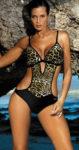 Rajcovní plavky monokiny s leopardím vzorem