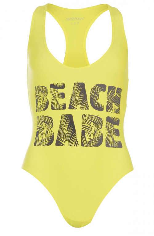 Dámské jednodílné plavky s nápisem Beach Babe