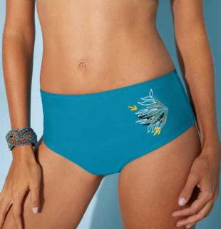 Plavkové maxi kalhotky Blancheporte Orani pro ploché bříško