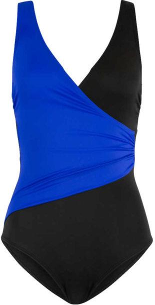 Jednodílné dámské černo-modré plavky