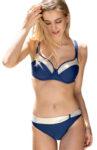 Modro-zlaté dámské dvoudílné plavky