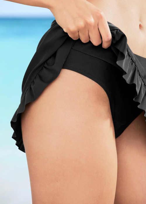Černá plavková sukně s všitými kalhotkami