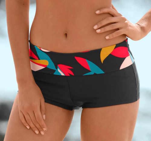 Boxerkové dámské plavky s nastavitelnou výškou pasu