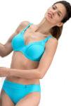 Tyrkysové dvoudílné dámské plavky pro plnoštíhlé