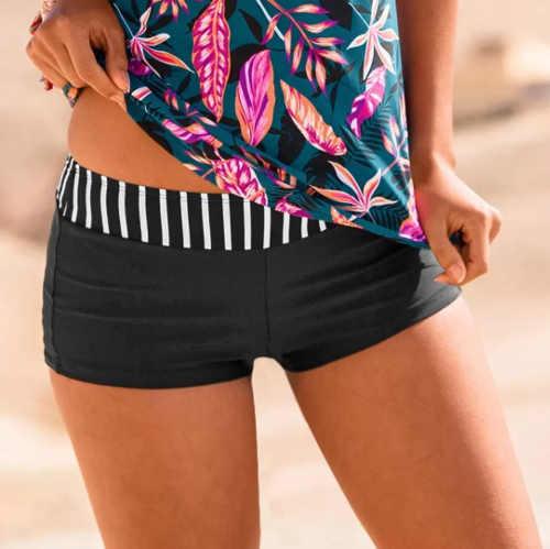 Černé dámské plavkové boxerky