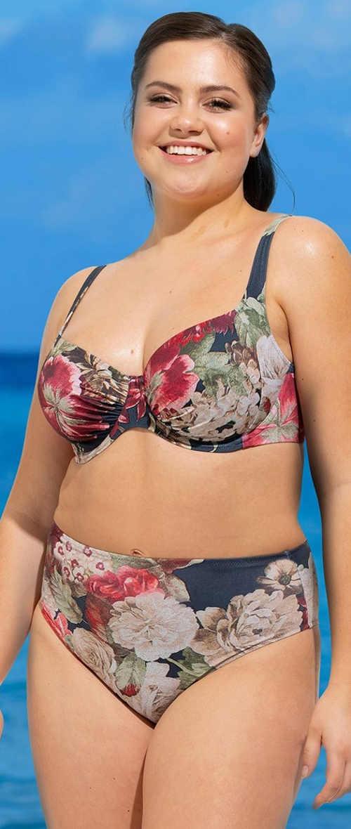Dámské dvoudílné plavky vhodné pro plné tvary Rosme Florea