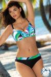 Dvoudílné plavky pro plnoštíhlé Self s kosticemi a nastavitelnými ramínky