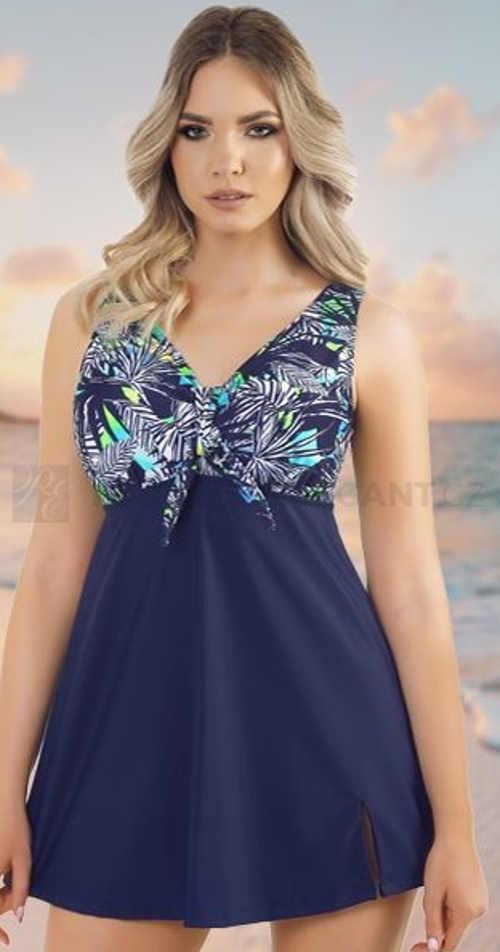 Jednodílné dámské plavky s volnou sukní