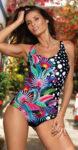 Exotické dámské jednodílné plavky pro plnější tvary