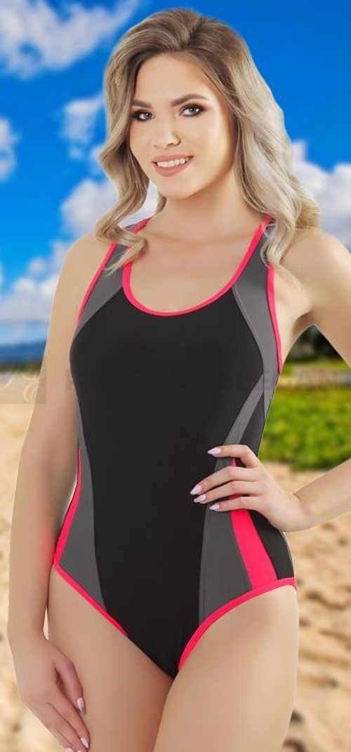 Sportovní jednodílné plavky pro plnoštíhlé Zara