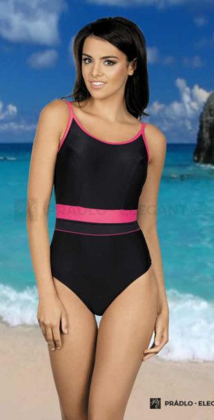 Jednodílné sportovní plavky v rafinovaném střihu a barevné kombinaci