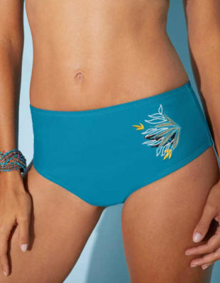Plavkové moderní maxi kalhotky se zeštíhlujícím efektem