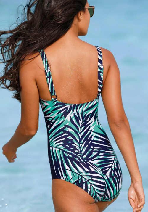 stylové jednodílné plavky s boční vsadkou