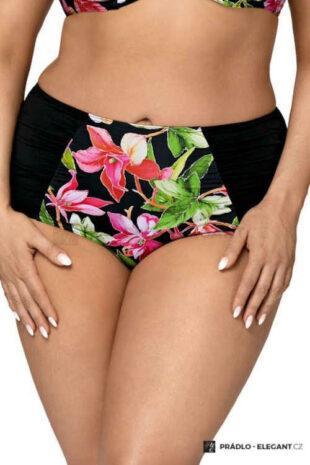 Stylové plavkové kalhotky v moderním květovaném vzoru