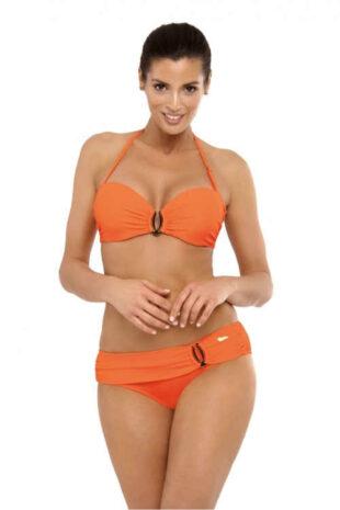 Módní dvoudílné dámské plavky v oranžovém provedení
