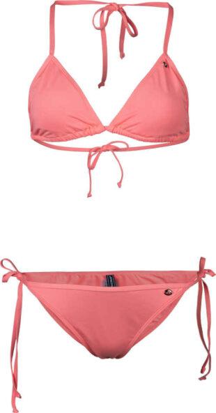 Růžové dvoudílné plavky v nadčasovém komfortním střihu