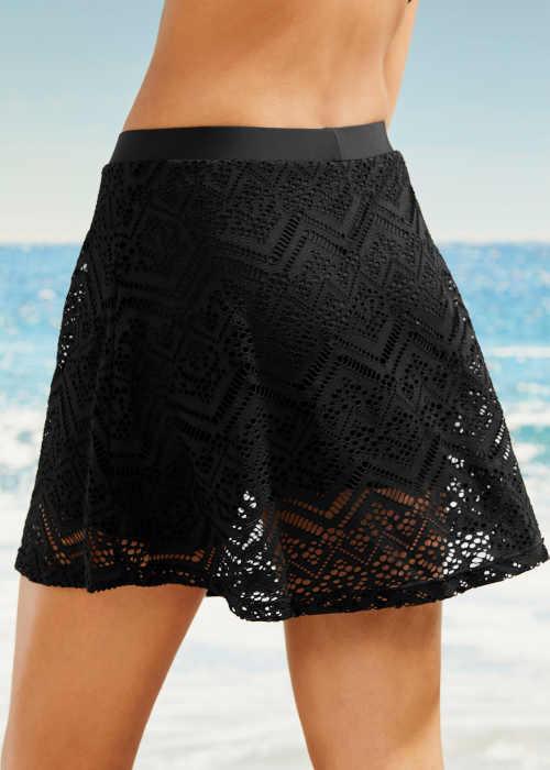 koupací sukně v černém provedení