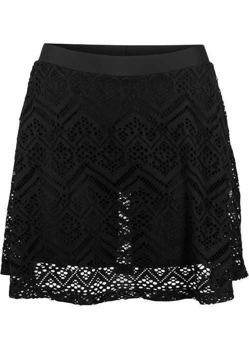 moderní koupací sukně s krajkou