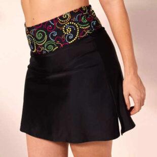 Plavková sukně s integrovanými kalhotkami v moderním střihu