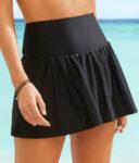 Černá plavková sukně zeštíhlující pás